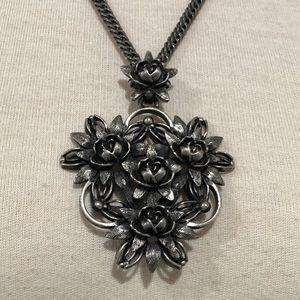 Elizabeth Cole Ravana Vintage Floral Necklace